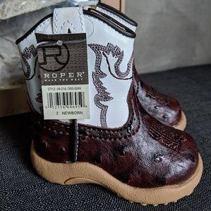 Roper Shoes - Roper newborn boys cowboy boots